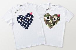 2019 tshirt de rihanna 3d 2020 Commes mens designers de camisetas OFF com coração desporto Camisetas des Garçons Branco Pablo tarja camiseta Para vetements Verão