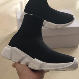 240cb1a0e860f8 Balenciaga Günstige Designer Speed Trainer Luxury Brand Casual Schuhe  Schwarz Weiß Rot Glitter Flache Mode Socken Stiefel Sneakers Mode Trainer  Runner 36-45