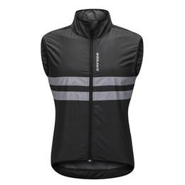 Camisa de ciclagem da forma on-line-Moda reflexiva ciclismo colete sem mangas respirável à prova de vento bicicleta jersey