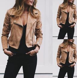 casacos de inverno equipados para mulheres Desconto Mulheres Jaquetas Curtas Com Zíper Outono Inverno Designer Jaqueta Turn Down Collar Feminino Slim Fit Casacos