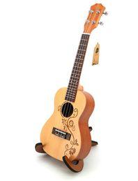 2019 geschnitzte gitarren Schöne 23 Zoll Ukulele kleine Gitarre, Fichte Carving Handwerk, Anfänger Eintrag Instrument freies Verschiffen rabatt geschnitzte gitarren
