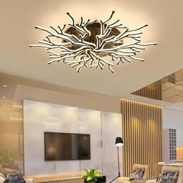 2020 lustre do quarto principal Preto acabamento moderno de teto LED Antler Candelabro Iluminação Acrílico Plafond lâmpada para Living Room Master Room Bedroom lustre do quarto principal barato