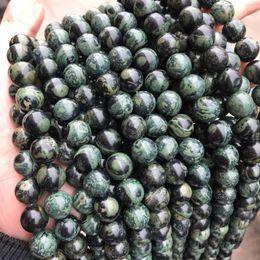 collar de piedras semipreciosas verde Rebajas Granos de piedra de Rhyollite verde natural para la joyería que hace DIY collar de la pulsera 4-12mm 15