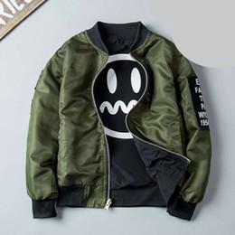 Chaquetas verdes niños online-Dos colores para niños chaqueta caliente Springautumn la chaqueta de bombardero chaqueta rompevientos del Ejército Verde Boy multicolor niños 4-12T béisbol