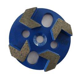 GD11 concreto Grinding Tools 3 Inch Universal diamante moagem disco com quatro Seta Segmentos de Concreto Terrazzo Piso 12PCS de Fornecedores de corte de gemas