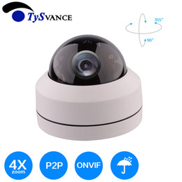 Onvif HD 5MP H.265 IR 30m Interior Mini 5.0MP CCTV Seguridad IP Cámara domo PTZ 4X Zoom óptico Red doméstica 5Mega desde fabricantes