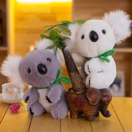Soft koala giocattolo online-Kawaii Koala giocattoli di peluche per bambini Koala australiano Orso Peluche ripiene di peluche Bambola Regalo adorabile per ragazza Bambini Bambino