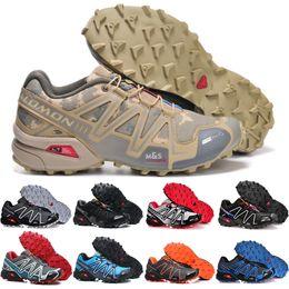 sapatos de camuflagem homens Desconto 2018 Salomon Sapatos Speed Cross 3 CS III tênis esportivos Homens Camuflagem Ao Ar Livre Confortável Masculino Sapatos de Jogging Sapatos de Esgrima