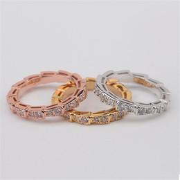 Anéis de ouro requintados on-line-Moda Cobra Óssea Bangles Anéis de Luxo Pulseiras Casuais Anéis de Prata de Ouro Rosa Magro Pulseira Anéis Exquisite Jóias de Casamento Amante de Presente