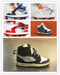 I pattini di pallacanestro dei ragazzi 6.5 online-Vendita calda 1s per bambini scarpe da basket superiori di Bambini maschi Bambine femmine Babys sneakers estate casual sport all'aperto scarpe da corsa formato 28-35