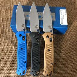"""BANCO 535 Bugout AXIS faca dobrável 3,24"""" S30V cetim liso lâmina TC4 Pega Faca de caça Camping BM940 BM781 BM42 A07 borboleta de"""