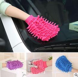 outil de nettoyage de fenêtre de voiture Promotion Gants de nettoyage de voiture en microfibre Chenille gant de lavage Creative Soft Coral Nettoyant de voiture Duster Fenêtre Outil de lavage