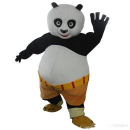 Kung fu tier cartoons online-Professionelle benutzerdefinierte Kung Fu Panda Maskottchen Kostüm Cartoon Tier Charakter Maskottchen Kleidung Weihnachten Halloween Party Kostüm