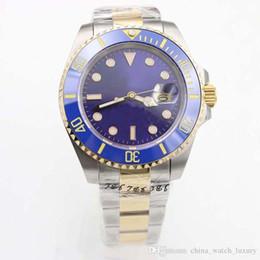 relógio de ouro azul cerâmico de safira Desconto Ouro azul relógio Glide Lock Clasp 2813 movimento automático Men Watch Automático mecânico relógio 40mm 116610 Ceramic Bezel Sapphire relógio de pulso