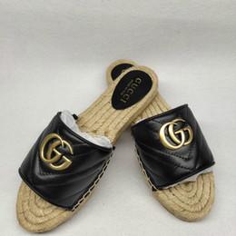 Sandales pantoufles simples en Ligne-Été original haute qualité mode dames occasionnels sandales et pantoufles classiques chaussures de luxe simples sauvages shopping parti