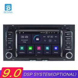 2019 radio t5 Besina Android 9.0 Car DVD Player para VW Touareg Multivan T5 2002-2010 Navegación GPS Multimedia Autoaudio Estéreo 2Din Radio de coche radio t5 baratos