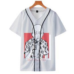 Um homem soco on-line-One Punch Man Temporada 2 3D 2019 nova moda de beisebol de verão de manga curta de beisebol casual de manga curta T-shirt