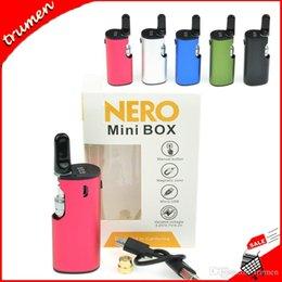Kit Mod. Mini Box Nero Autentico al 100% Kit Preriscaldamento Batteria VV da 650 mAh Variabile Volt Mod 0.5ml Cartucce di Vape Oil Coil ad alto spessore da