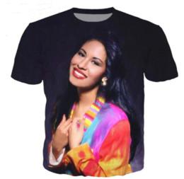 2019 Nouveau Design De Mode T-shirt Hommes / femmes Chanteur Selena Quintanilla 3D Imprimé T-shirts Casual Style Hip Hop Streetwear D'été Tops N1170 ? partir de fabricateur