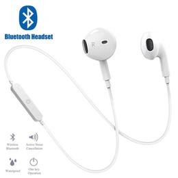 bluetooth наушники для samsung s6 Скидка S6 Bluetooth гарнитура Спортивные наушники стерео бас наушники беспроводные наушники Bluetooth-гарнитура с микрофоном для всех смартфонов