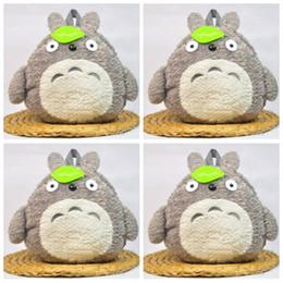 Bolso de escuela totoro online-Hayao Miyazaki Totoro Parenting Mochila de dibujos animados Primaria y Secundaria Estudiantes Mochila Lovely Green Leaf Bags Moda 33mzf1