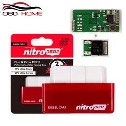 Caja de ajuste de chip nitro obd2 online-Nueva NitroOBD2 Diesel Car Chip Tuning Box Plug and Drive OBD2 Chip Tuning Box Más potencia / más de par motor Nitro OBD2