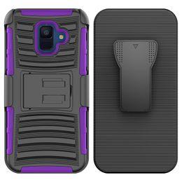 Hybrid-roboter combo telefon fall online-Für Samsung Galaxy A6 2018 J3 2018 J7 2018 Hybrid Armor Case Roboterabdeckung Combo Heavy Duty mit Clip Telefon Fall Oppbag