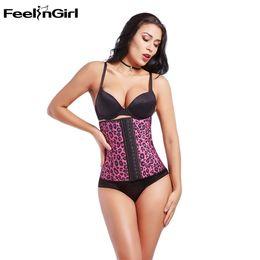 5f59c6035953c wholesale Waist Cincher Latex Rubber Waist Trainer Underbust Leopard Print Corset  Body Shaper Shapewear Belly Slimming -G5