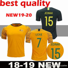 2018 Australia soccer jersey home yellow away green 18 19 JEDINAK LECKIE  MILLIGAN CAHILL football shirts top quality cstomize free men shirt shirts  ... ca5632a9f