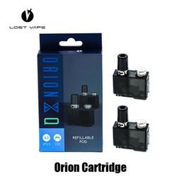 Cartuchos recargables online-100% original perdido Vape Orion DNA Go cartucho Q 2ml Reemplazo de vainas recargables para el auténtico kit de inicio de LostVape