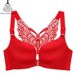 36 d xícara Desconto Plus size sutiã bralette push up sutiãs para as mulheres lingerie sem fio sutiã de renda tamanho grande c d e copo vermelho preto azul 36 38 40 48 52