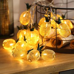 2019 fiesta cuerdas frutas Luces de la secuencia de la fruta de la piña del LED para la lámpara decorativa al aire libre del año nuevo del banquete de boda del año nuevo Guirnalda de la Navidad luz llevada de la luz fiesta cuerdas frutas baratos