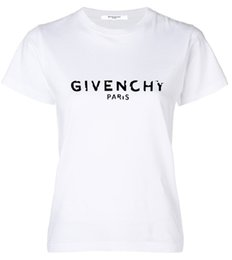 animal de visón blanco Rebajas Mujeres de verano de manga corta camiseta de impresión de la letra moda cuello redondo simple camiseta Verano de algodón puro transpirable camiseta