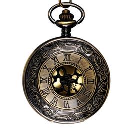 2019 montres à large cadran Montre à gousset classique à large cadran doré Montre à gousset élégante en échelle romaine en bronze montres à large cadran pas cher