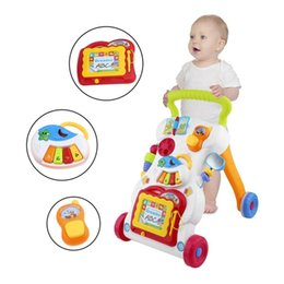 toddler learn Coupons - Baby Walker Walking Assistant Multifunctional Toddler Trolley Sit-to-Stand Walker for Kid's Early Learning with Adjustable Screw