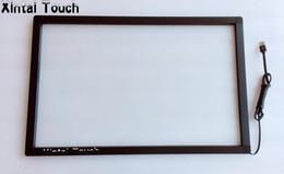 monitor vetro touch screen Sconti Kit overlay touch screen IR multi stabile da 24 pollici 2 punti per monitor touch / chiosco / display interattivo con vetro
