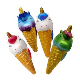 Дешевое мороженое онлайн-Пользовательский мягкая медленный рост пу дешевый болотистый единорог мороженое игрушки стресс игрушка сброс для детей и взрослых