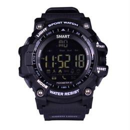 stoppuhr kinder Rabatt EX16 Smart Watch Bluetooth Wasserdicht IP67 intelligente Armbanduhr Relogios Pedometer Stoppuhr Sport-Armband für iPhone und Android Phone Watch