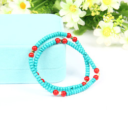 natural beaded linked chain Promo Codes - designer jewelry mens bracelets Wrap-Around Women Jewelry With 6mm Natural Stone Elastic Beaded Bracelets Bangle 10pcs lot Hot Sale