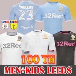 19 20 Soccer Jersey Leeds United Camisa de Futebol 100 TH aniversário Centennial edição limitada centenário Soccer Jersey ROOFE BAMFORD ALIOSKI third 100 Years camisa de futebol de Fornecedores de spain manga longa camisa de futebol