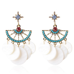 Boucles d'oreilles douces et douces de glands pour femmes - Bohème Boho Style de vacances Blanc Bleu Dangle Boucle d'oreille Déclaration Bijoux Accessoires de mode ? partir de fabricateur