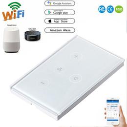 Canada Smart Touch Switch Commutateur Ventilateur / Lampe Dédié Touch Wifi Télécommande Commutateur Intelligent Pour Alexa Google Home Lumière 600W AC100-240V Offre