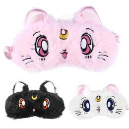 Canada Peluche pas cher animaux en peluche 1 pc trois couleurs ombre à paupières masque de dessin animé couverture de bande dessinée chaton mignon sommeil masque masque, repos reste. Offre