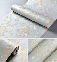 Europäischer stil tapeten rollen online-10 Mt * 0,53 CM Europäischen stil vliestapete klassische wandpapierrolle wandverkleidung luxus tapete