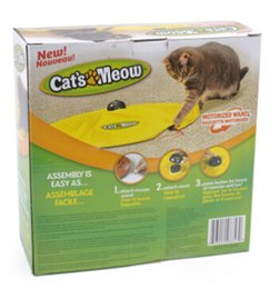 moving cat toys Promo Codes - Electric Cat Puzzle Toy Cat Meow Undercover Fabric Moving Mouse Interactive Toy Funny Pet Kitten Training Toy