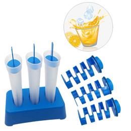 2019 контейнеры для льда Лето 3 Шт. / Компл. Силиконовые Ведро Льда Mighty Freeze Ice Maker Контейнеры Экологичные Кухонные Принадлежности Замораживание Формы Кубика Льда BH1686 TQQ дешево контейнеры для льда