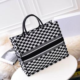 Moda alta sacos marca on-line-Venda quente de luxo Saco de Compras de couro de lona de alta qualidade famosa marca designer de ombro moda casual totes sacos bolsas femininas