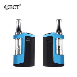 Vaper mod box online-Authentic ECT Mico Vape Kit 500mah Box Mod 0.5ml Kartuschenbehälter Vaporizer Top Nachfüllen 510 Gewinde Vaper Elektronische Zigarette Kit