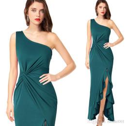 Платье из осеннего чая онлайн-2019 Летние и осенние элегантные вечерние вечерние платья и вечерние платья без рукавов.
