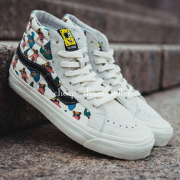 3292076120e2 2019 Vans Peanuts Old Skool Sk8 Hi Men Women Brand Athentic Canvas Mens  Designer Sports Running Shoes for Womens Sneakers Casual Trainers